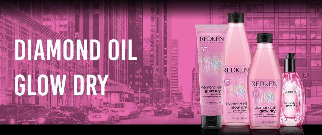 ¿Conoces la linea de productos Diamond Oil Glow Dry de RedKen?