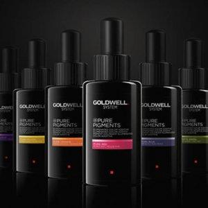 Descubre los 6 tonos de la nueva linea de coloración Pure Pigments de Goldwell